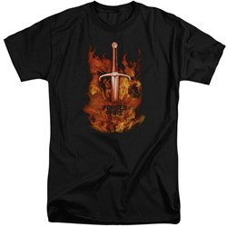 Forged In Fire - Mens Sword In Fire Tall T-Shirt