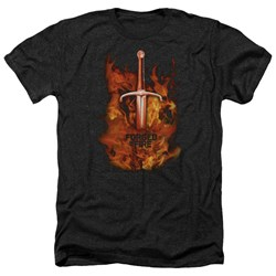 Forged In Fire - Mens Sword In Fire Heather T-Shirt