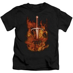 Forged In Fire - Youth Sword In Fire T-Shirt