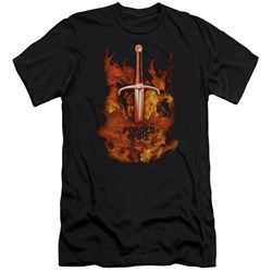 Forged In Fire - Mens Sword In Fire Premium Slim Fit T-Shirt