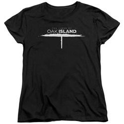 The Curse Of Oak Island - Womens Tunnel Logo T-Shirt