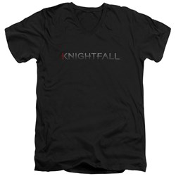 Knightfall - Mens Logo V-Neck T-Shirt