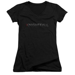 Knightfall - Juniors Logo V-Neck T-Shirt