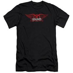 Aerosmith - Mens Winged Logo Premium Slim Fit T-Shirt
