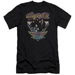 Aerosmith - Mens Triangle Stars Premium Slim Fit T-Shirt