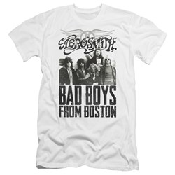Aerosmith - Mens Bad Boys Premium Slim Fit T-Shirt