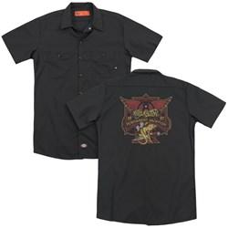 Aerosmith - Mens Permanent Vacation (Back Print) Work Shirt