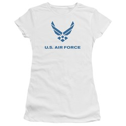 Air Force - Juniors Distressed Logo Premium Bella T-Shirt