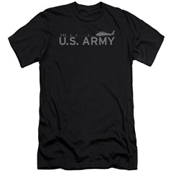 Army - Mens Helicopter Premium Slim Fit T-Shirt