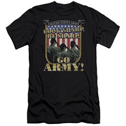 Army - Mens Go Army Premium Slim Fit T-Shirt