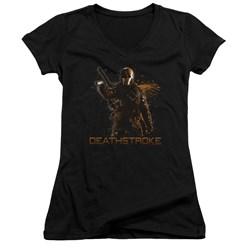 Arrow - Juniors Deathstroke V-Neck T-Shirt
