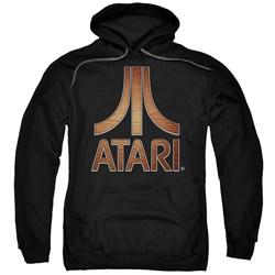 Atari - Mens Classic Wood Emblem Pullover Hoodie