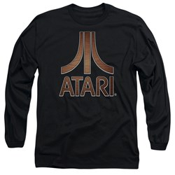 Atari - Mens Classic Wood Emblem Long Sleeve T-Shirt
