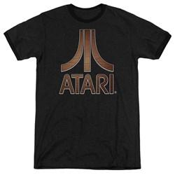 Atari - Mens Classic Wood Emblem Ringer T-Shirt