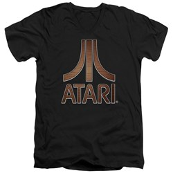 Atari - Mens Classic Wood Emblem V-Neck T-Shirt