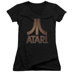Atari - Juniors Classic Wood Emblem V-Neck T-Shirt