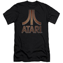 Atari - Mens Classic Wood Emblem Premium Slim Fit T-Shirt