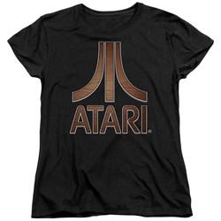 Atari - Womens Classic Wood Emblem T-Shirt