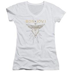 Bon Jovi - Juniors Greatest Hits V-Neck T-Shirt