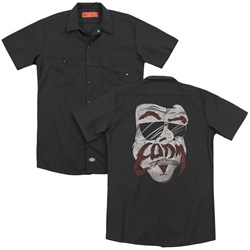 Eagles Of Death Metal - Mens Stache (Back Print) Work Shirt