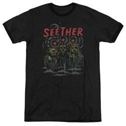 Seether - Mens Mind Control Ringer T-Shirt