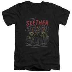 Seether - Mens Mind Control V-Neck T-Shirt