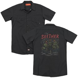 Seether - Mens Mind Control (Back Print) Work Shirt