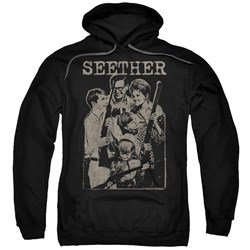 Seether - Mens Happy Family Pullover Hoodie