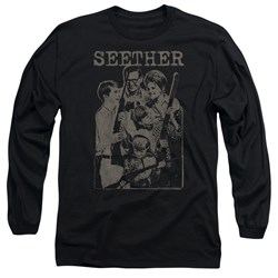 Seether - Mens Happy Family Long Sleeve T-Shirt