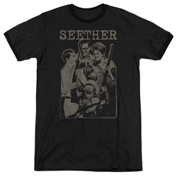 Seether - Mens Happy Family Ringer T-Shirt