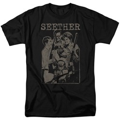 Seether - Mens Happy Family T-Shirt