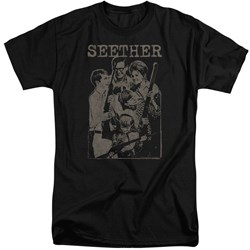Seether - Mens Happy Family Tall T-Shirt