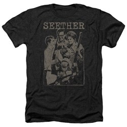 Seether - Mens Happy Family Heather T-Shirt