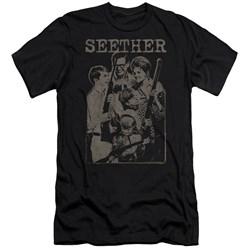 Seether - Mens Happy Family Premium Slim Fit T-Shirt
