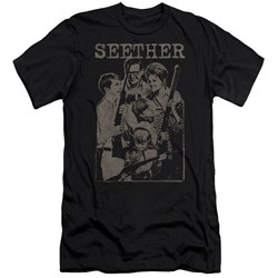 Seether - Mens Happy Family Slim Fit T-Shirt