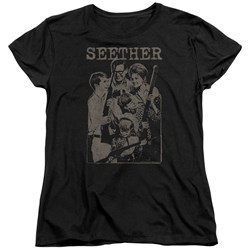 Seether - Womens Happy Family T-Shirt