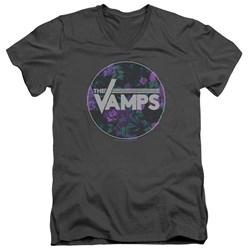 The Vamps - Mens Floral Vamps V-Neck T-Shirt
