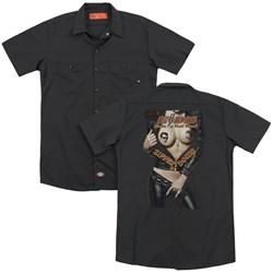 Eagles Of Death Metal - Mens Zipper Down (Back Print) Work Shirt