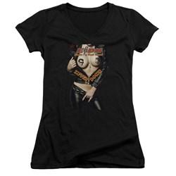 Eagles Of Death Metal - Juniors Zipper Down V-Neck T-Shirt