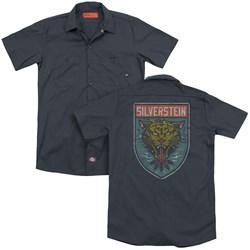 Silverstein - Mens Tiger (Back Print) Work Shirt