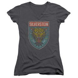 Silverstein - Juniors Tiger V-Neck T-Shirt