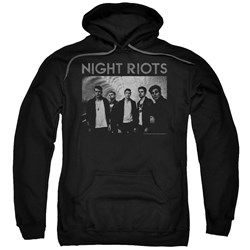 Night Riots - Mens Greyscale Pullover Hoodie