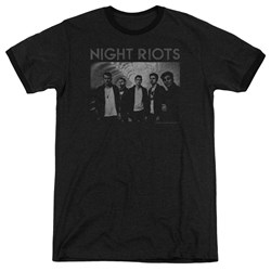 Night Riots - Mens Greyscale Ringer T-Shirt