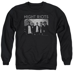 Night Riots - Mens Greyscale Sweater