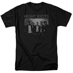 Night Riots - Mens Greyscale T-Shirt
