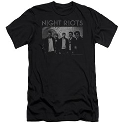 Night Riots - Mens Greyscale Slim Fit T-Shirt