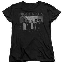 Night Riots - Womens Greyscale T-Shirt