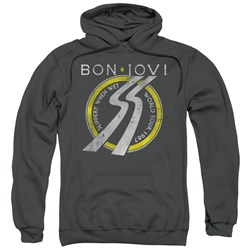 Bon Jovi - Mens Slippery When Wet World Tour Pullover Hoodie