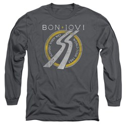 Bon Jovi - Mens Slippery When Wet World Tour Long Sleeve T-Shirt