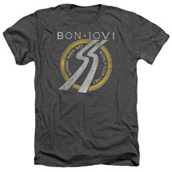 Bon Jovi - Mens Slippery When Wet World Tour Heather T-Shirt